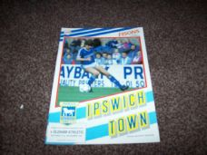 Ipswich Town v Oldham Athletic, 1987/88